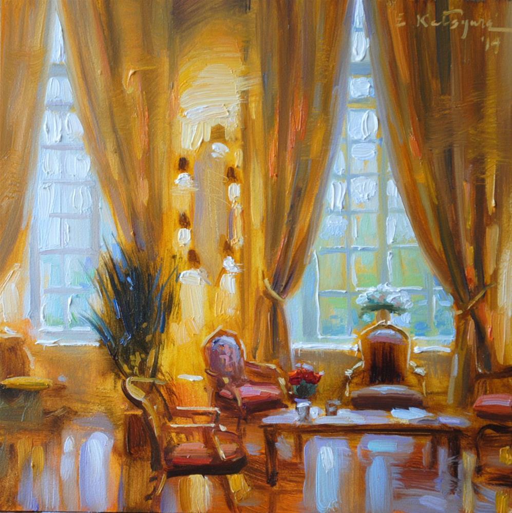 """Room of Gold"" original fine art by Elena Katsyura"
