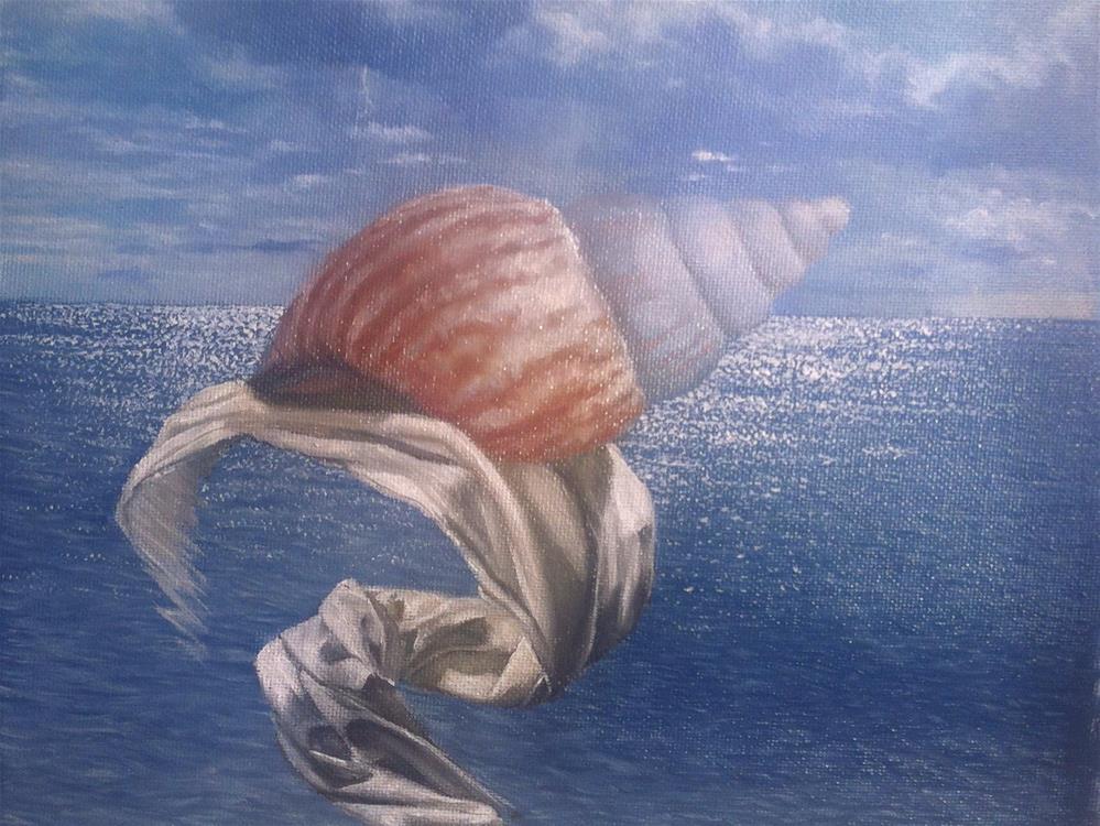 """""""Work in progress – seashell"""" original fine art by Paulo Jimenez"""