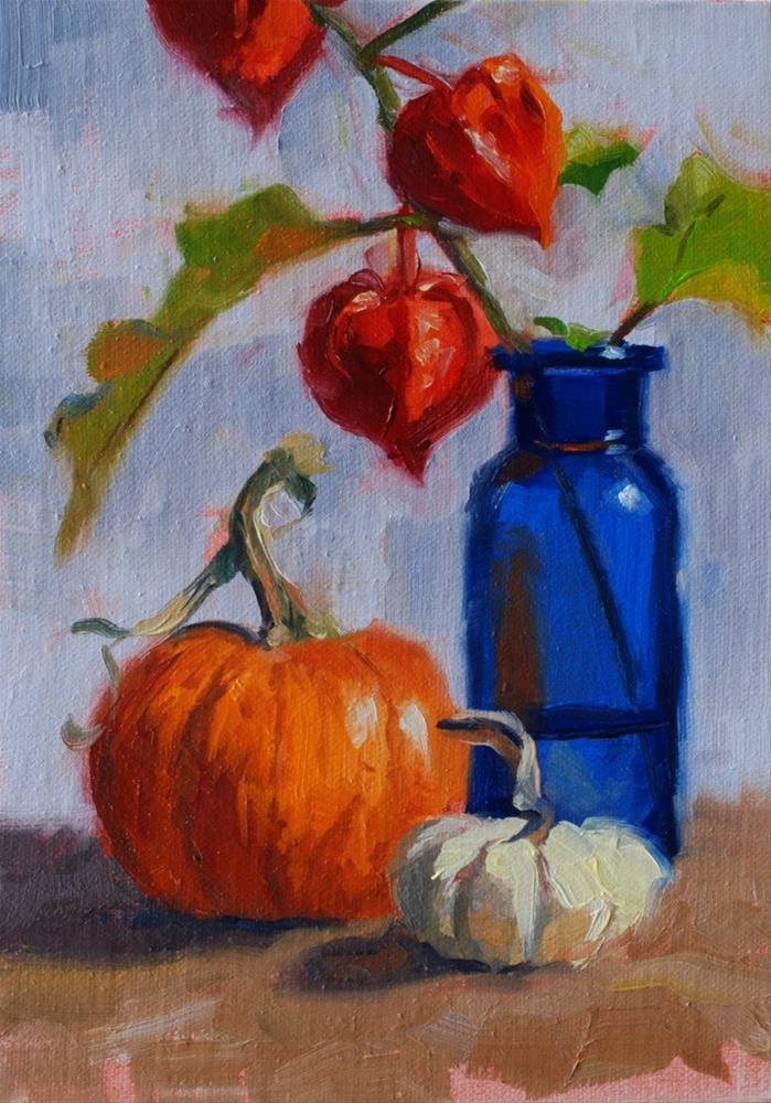 """No. 517 Autumn Still Life 2"" original fine art by Susan McManamen"