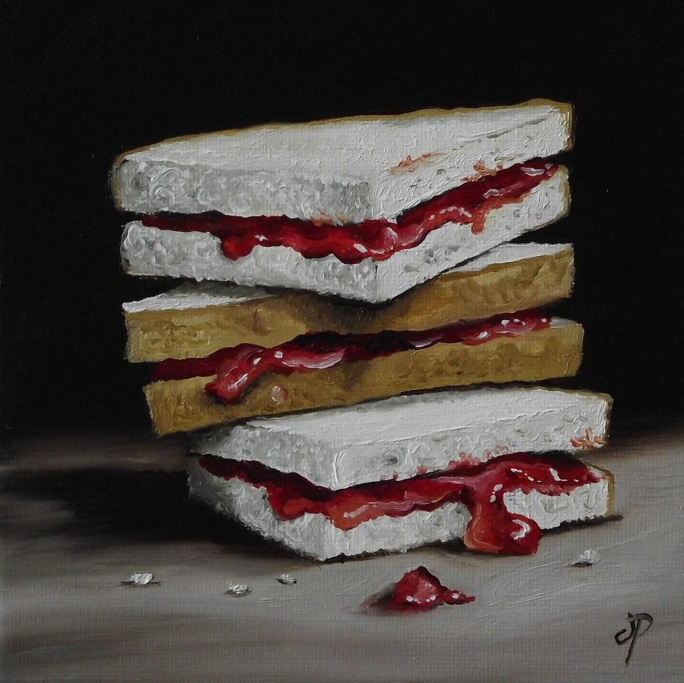 """Jam Butties"" original fine art by Jane Palmer"