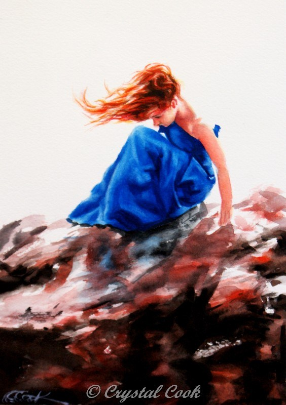 """""""She Stood in the Storm"""" original fine art by Crystal Cook"""