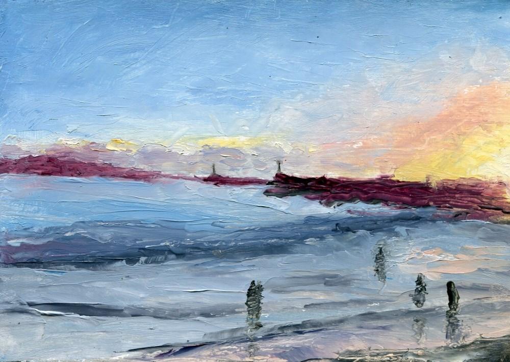 """Silver Sunset"" original fine art by Stanley Epperson"