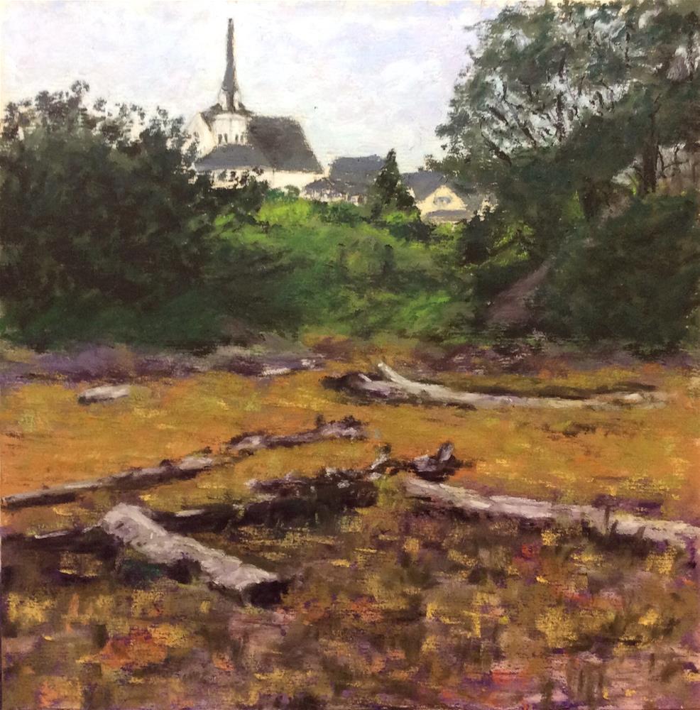 """The Church on the Hill"" original fine art by Marti Walker"