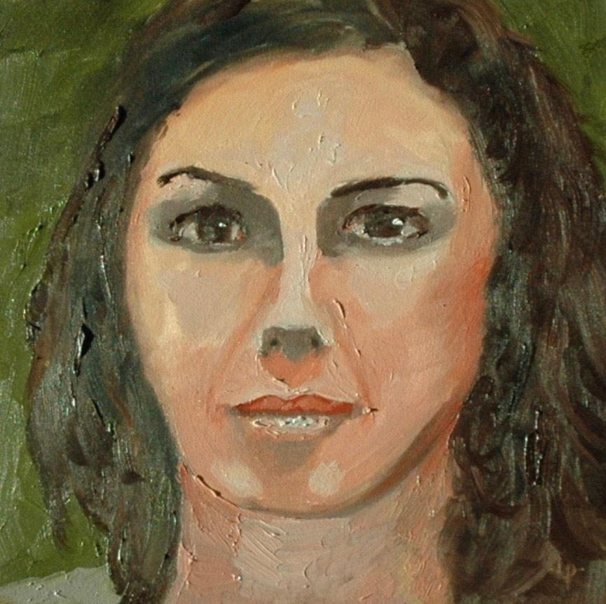 """""""FACE No. 107"""" original fine art by Linda Popple"""