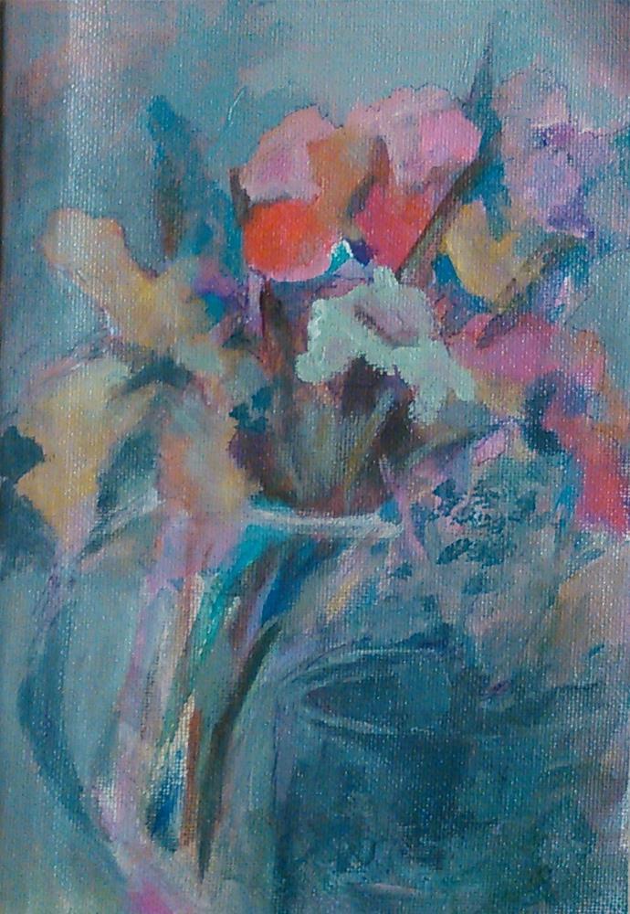 """""""Gray Bouquet"""" original fine art by Ann Rudd"""