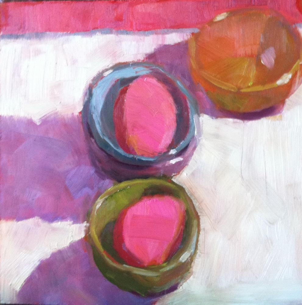 """""""Two Pink Eggs"""" original fine art by Katharine March"""