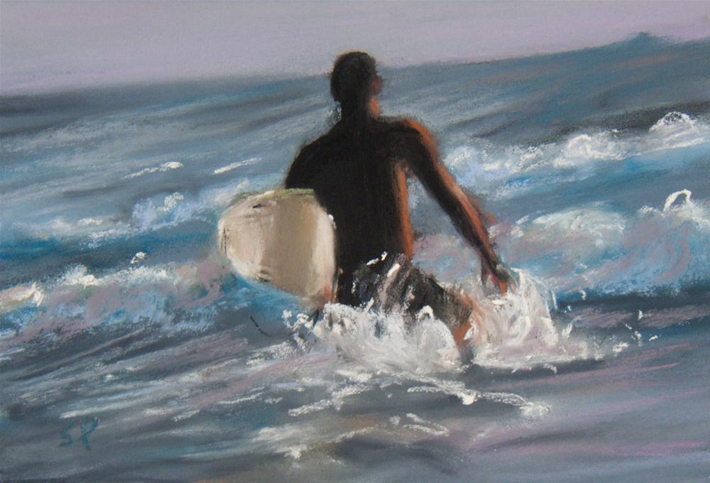 """Surfer"" original fine art by Sarah Peroutka"