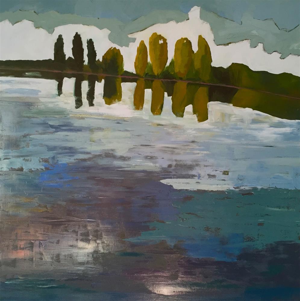 """Greenlake"" original fine art by Janet Bludau"