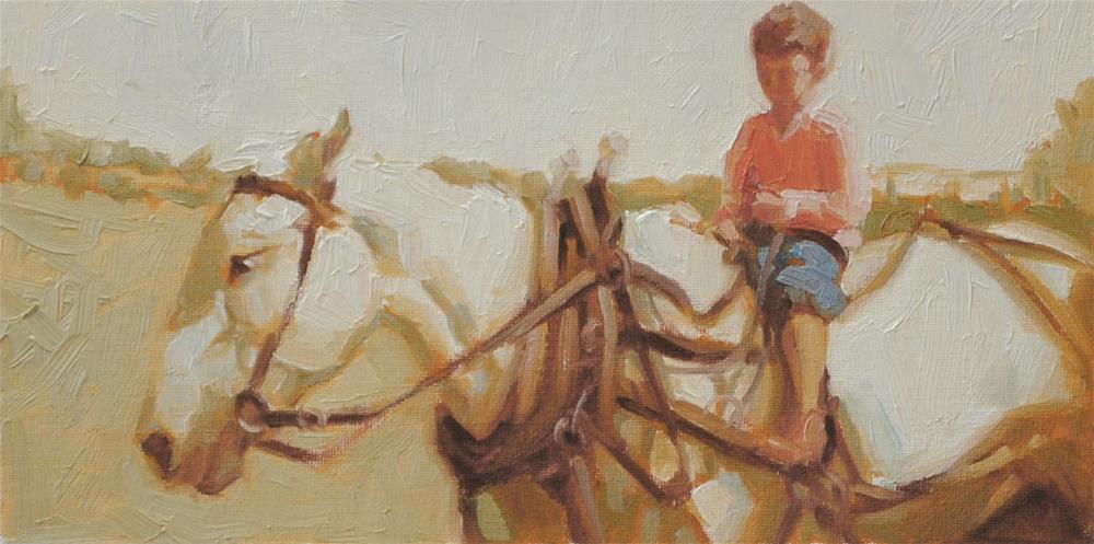"""""""Study, Long Ago Memories"""" original fine art by Cecile W. Morgan"""