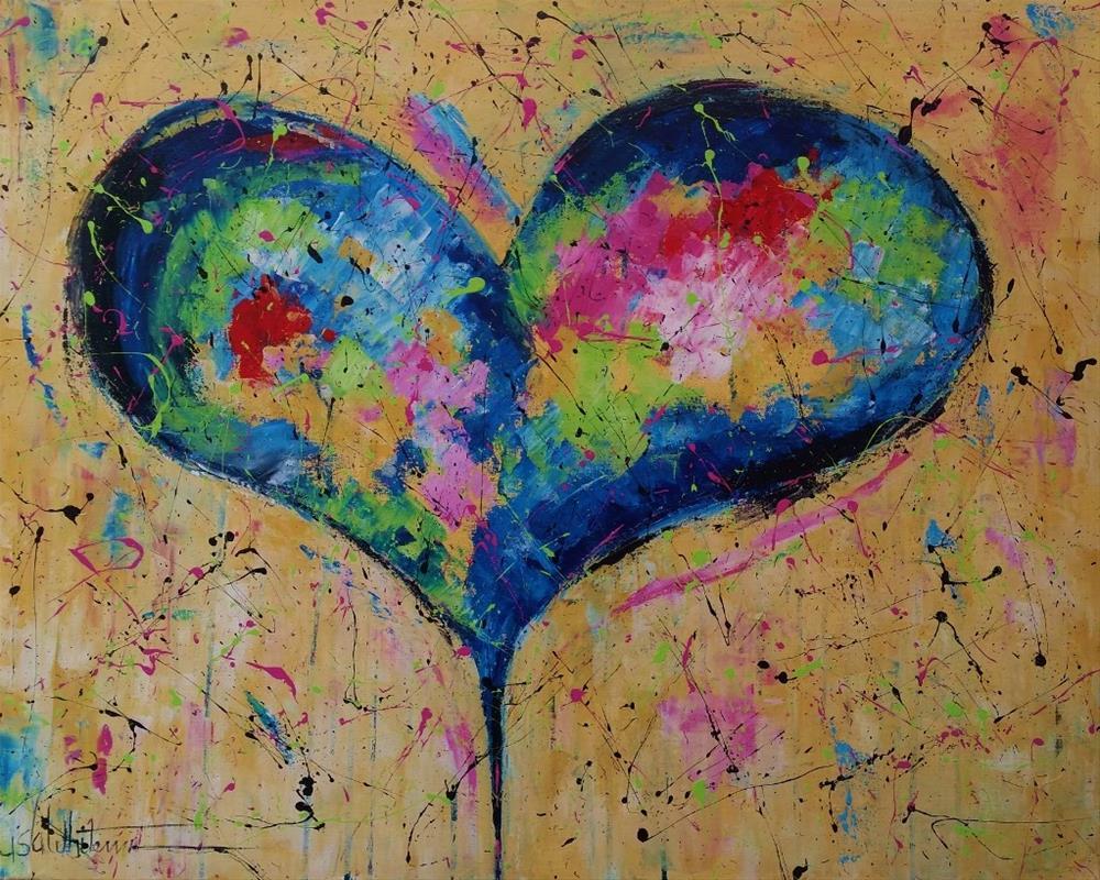 """105 - Life is hard"" original fine art by Lisa Rogers"