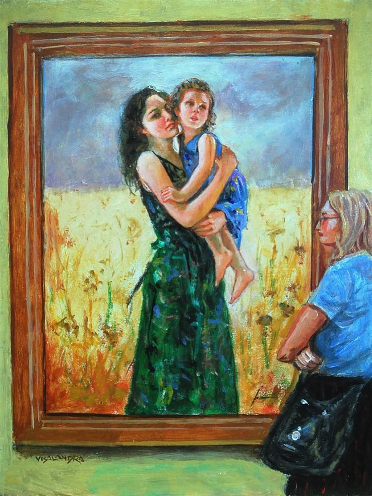 """museum visitor 11"" original fine art by vishalandra dakur"