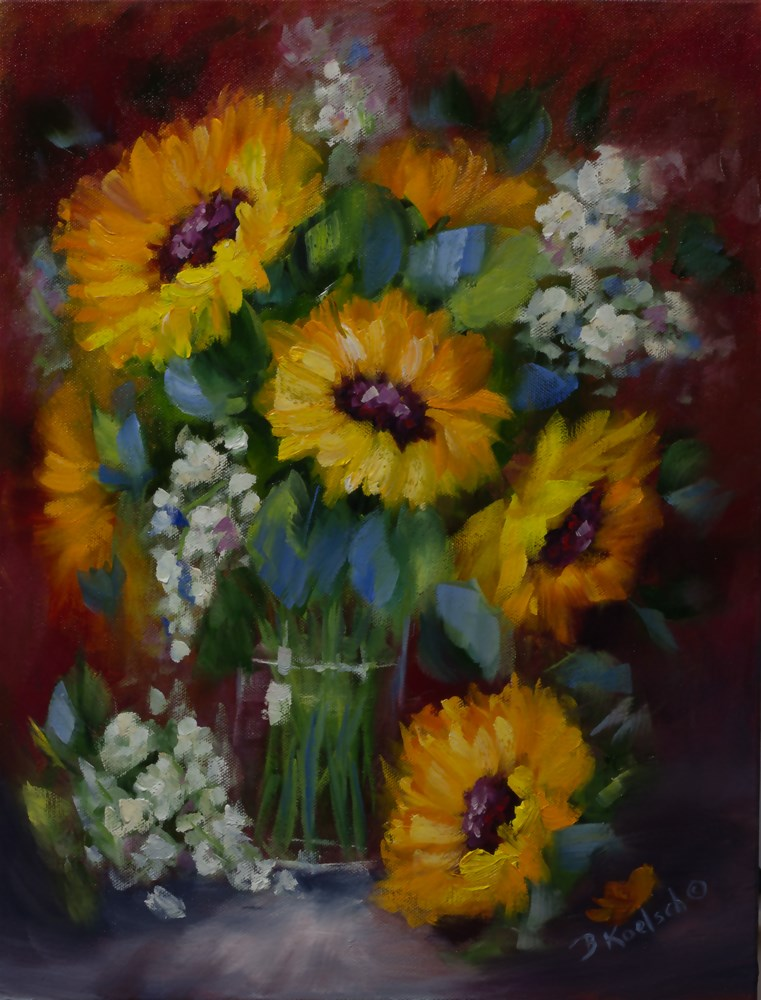 """Sunflower Surprise"" original fine art by Bobbie Koelsch"