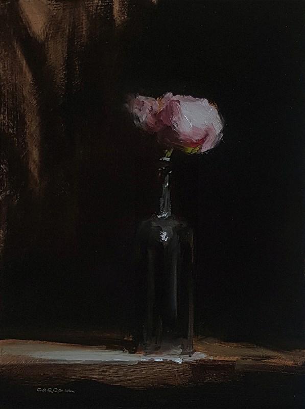"""""""Peony in Bottle"""" original fine art by Neil Carroll"""