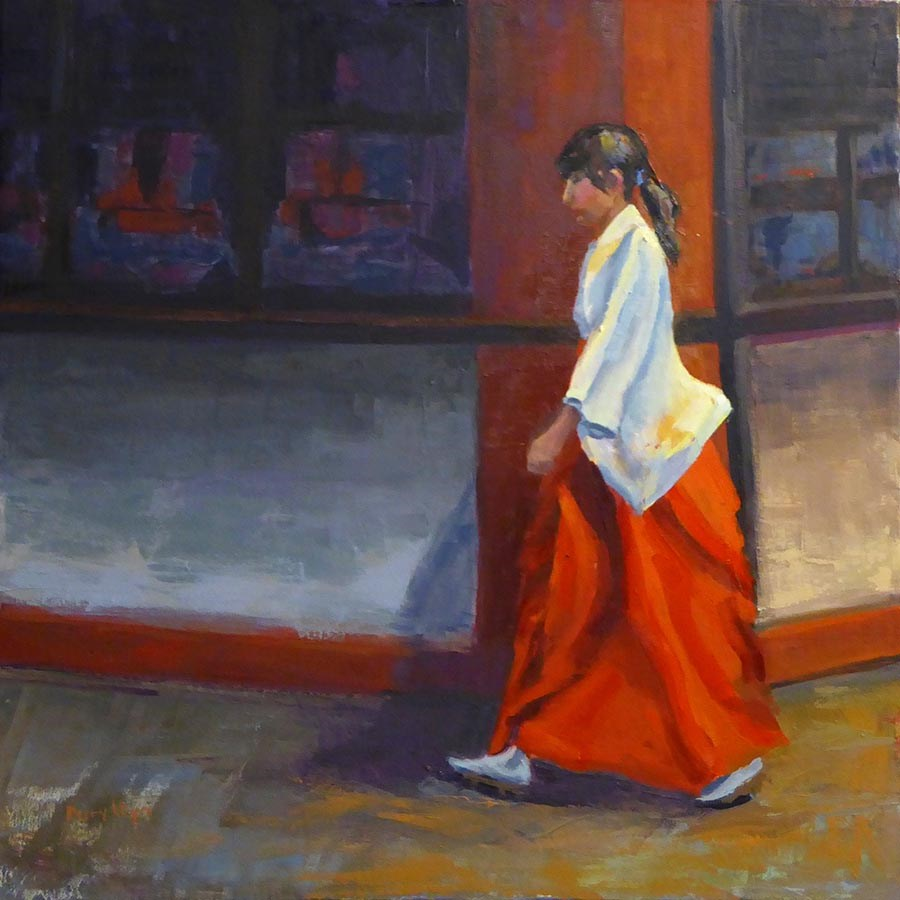 """Temple Girl"" original fine art by Daryl Lyn King"