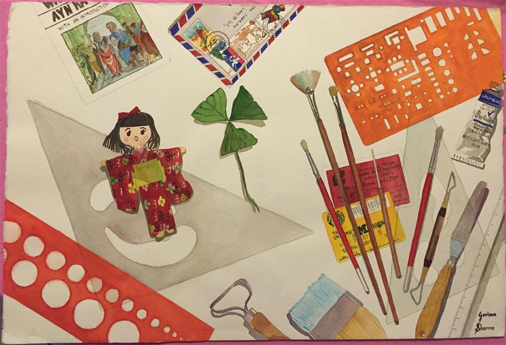 """Desktop"" original fine art by Garima Heath"
