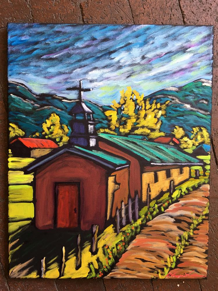 """""""Truchas Shadows"""" original fine art by Robyn Wellman"""