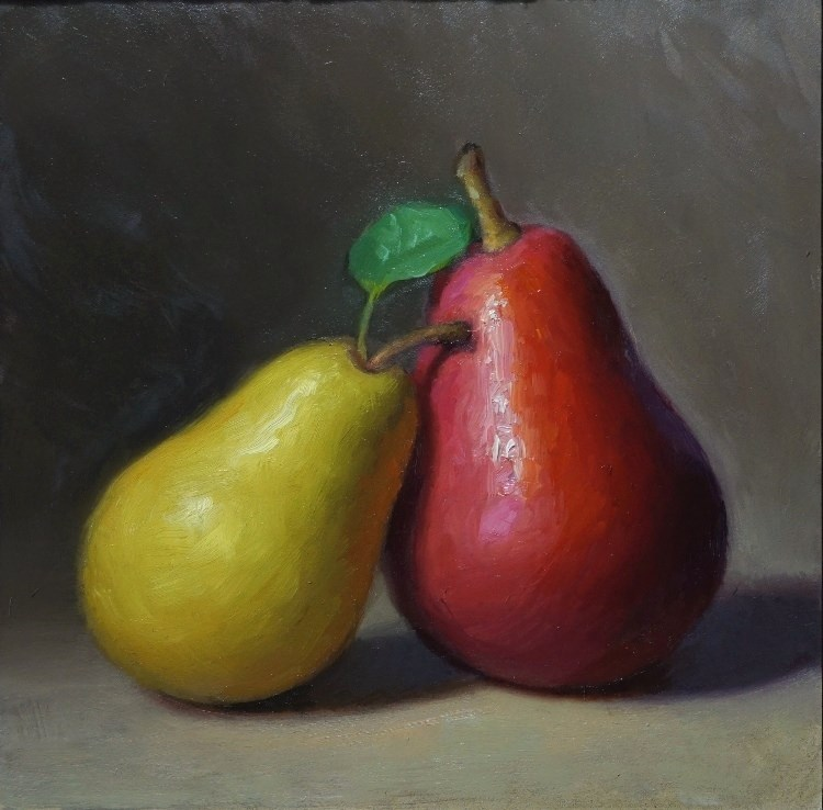 """Two Pears"" original fine art by Debra Becks Cooper"