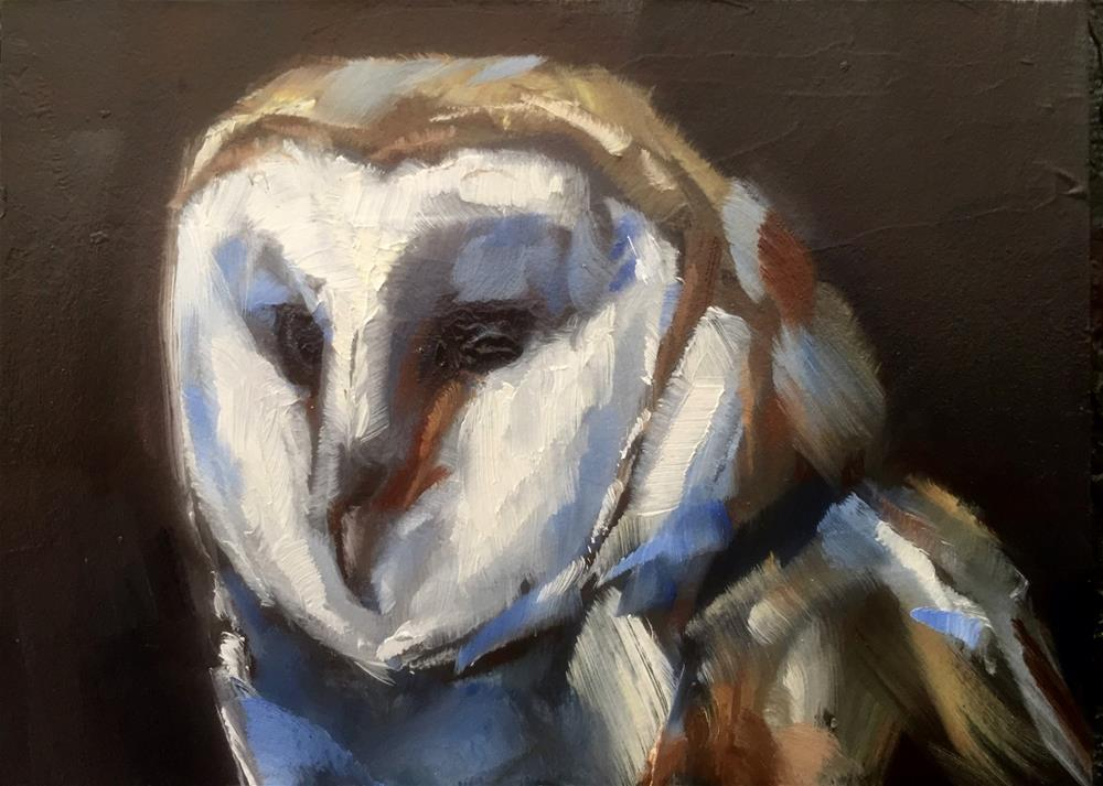 """Barn Owl Portrait"" original fine art by Gary Bruton"