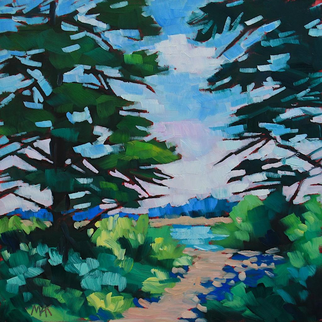 """Maine Landscape #20, Southwest Harbor"" original fine art by Mary Anne Cary"
