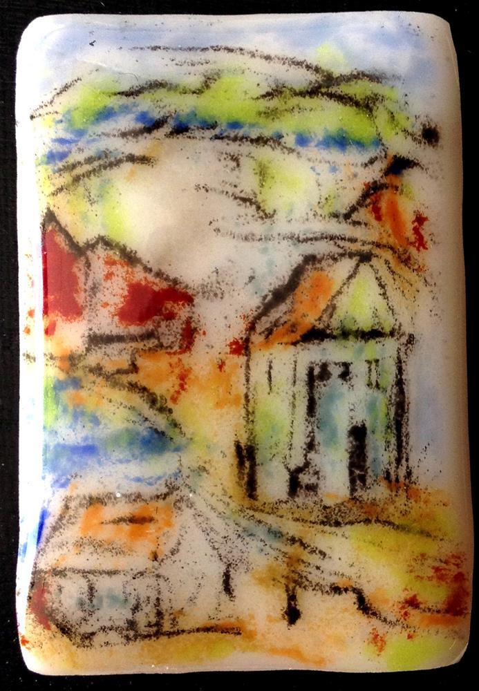 """Village"" original fine art by Kristen Dukat"