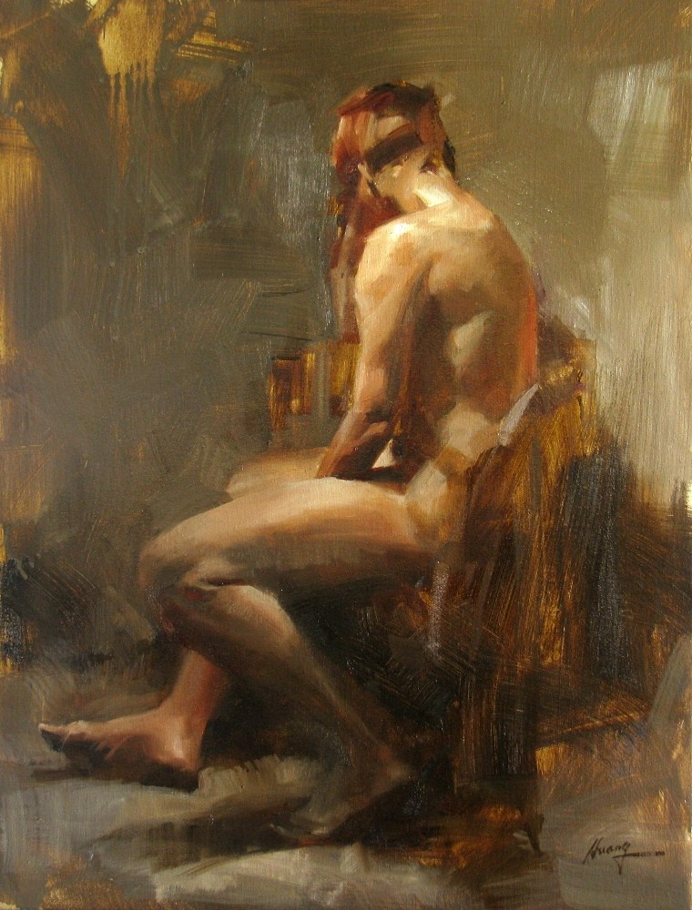 """AAU Figure Painting 2 (Day 2)"" original fine art by Qiang Huang"