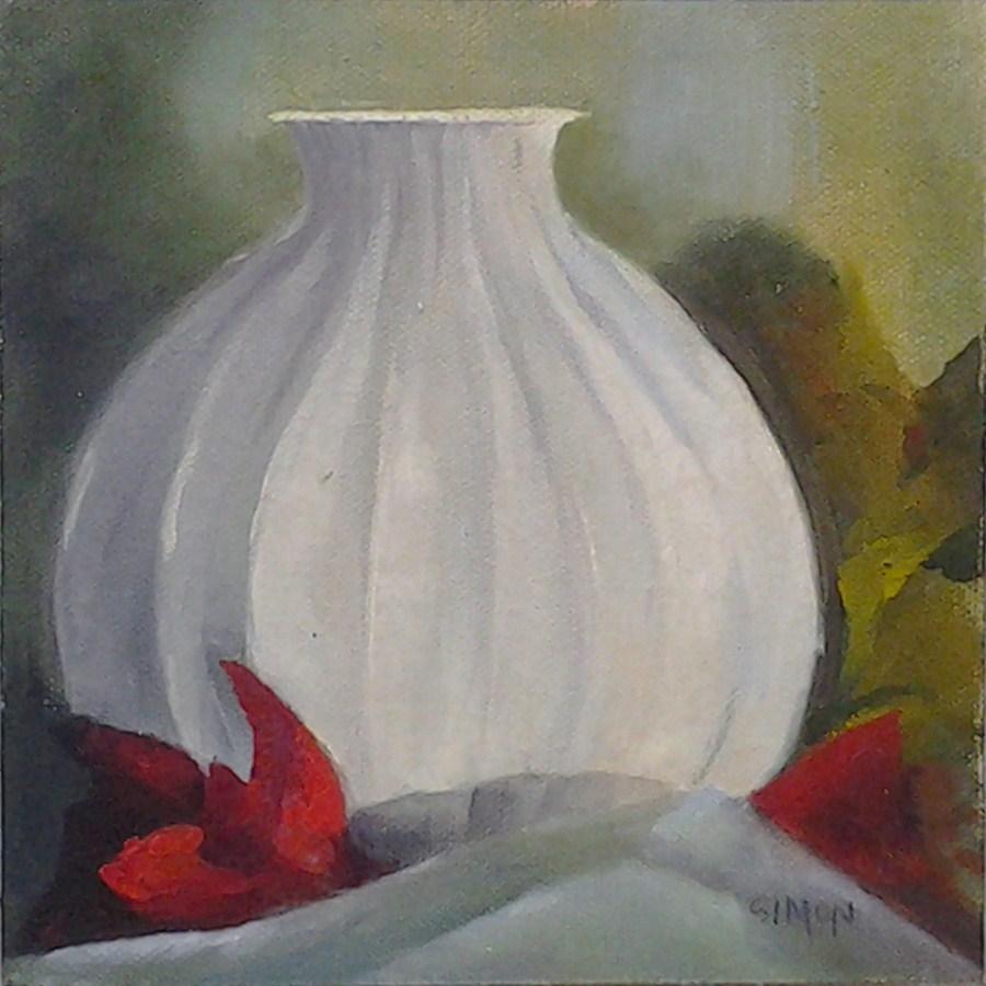 """""""Onion Vase"""" original fine art by A.K. Simon"""