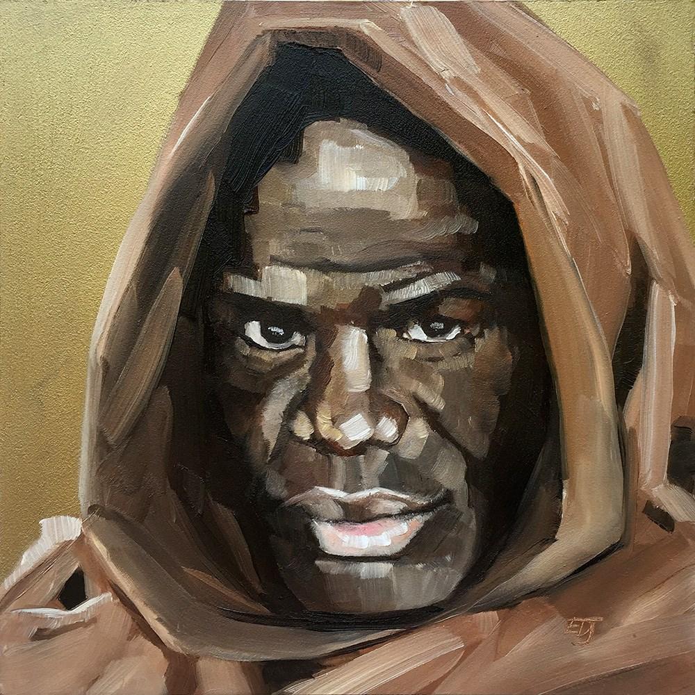 """""""Knight"""" original fine art by Elizabeth Dawn Johnston"""