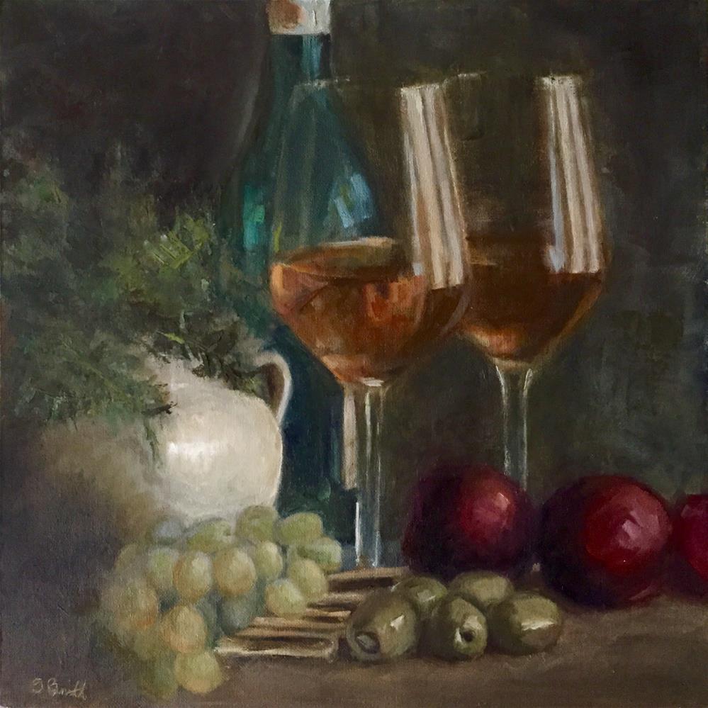 """""""Table For Two"""" original fine art by Sherri Burritt"""