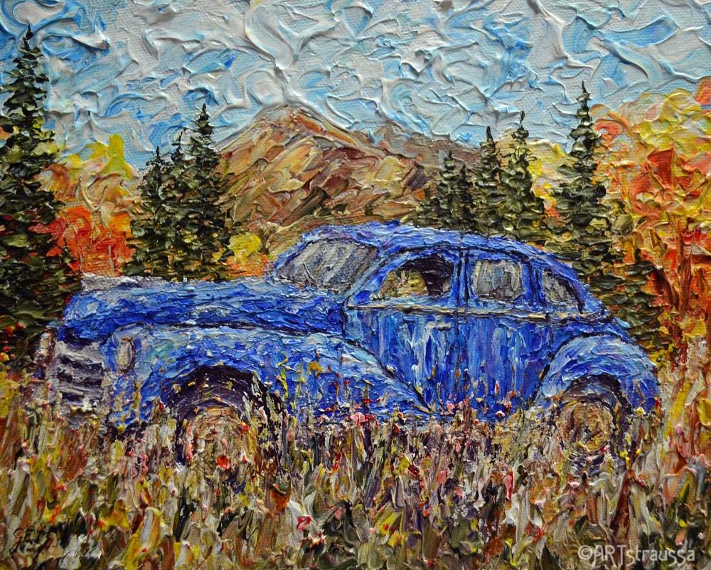 """""""Blue Abandonment"""" original fine art by Gloria Ester"""