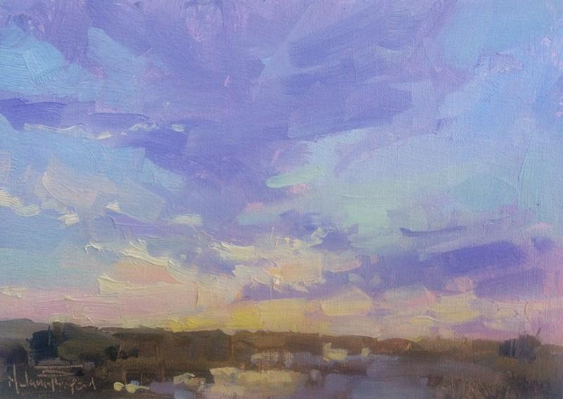 """McNary Sunrise I"" original fine art by Melanie Thompson"