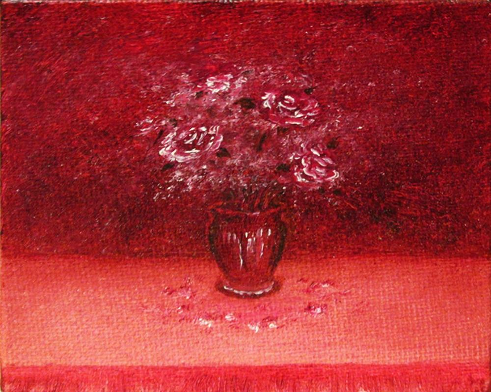 """""""Flowers in Vase 01"""" original fine art by Mary Sylvia Hines"""