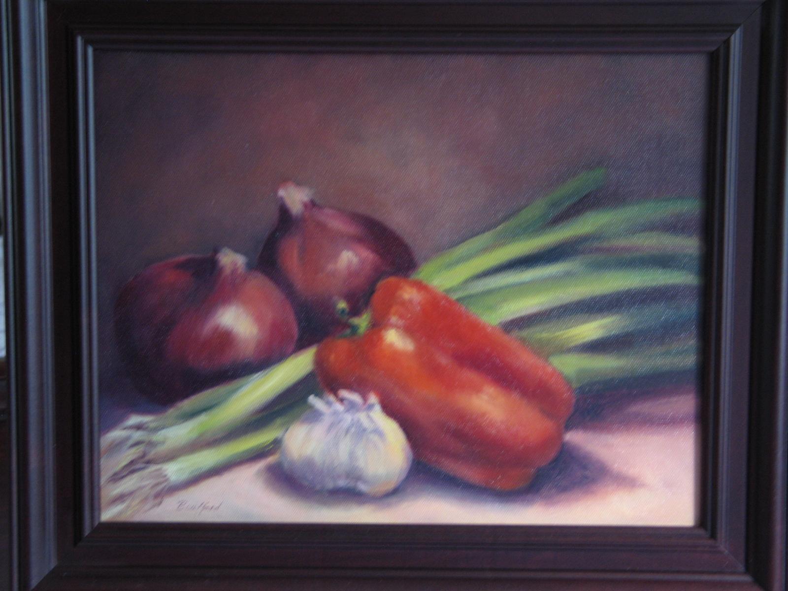 """""""Let's Cook"""" original fine art by Vikki Bouffard"""