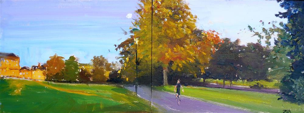 """The Last Golden Tones, Royal Crescent, Bath"" original fine art by Adebanji Alade"