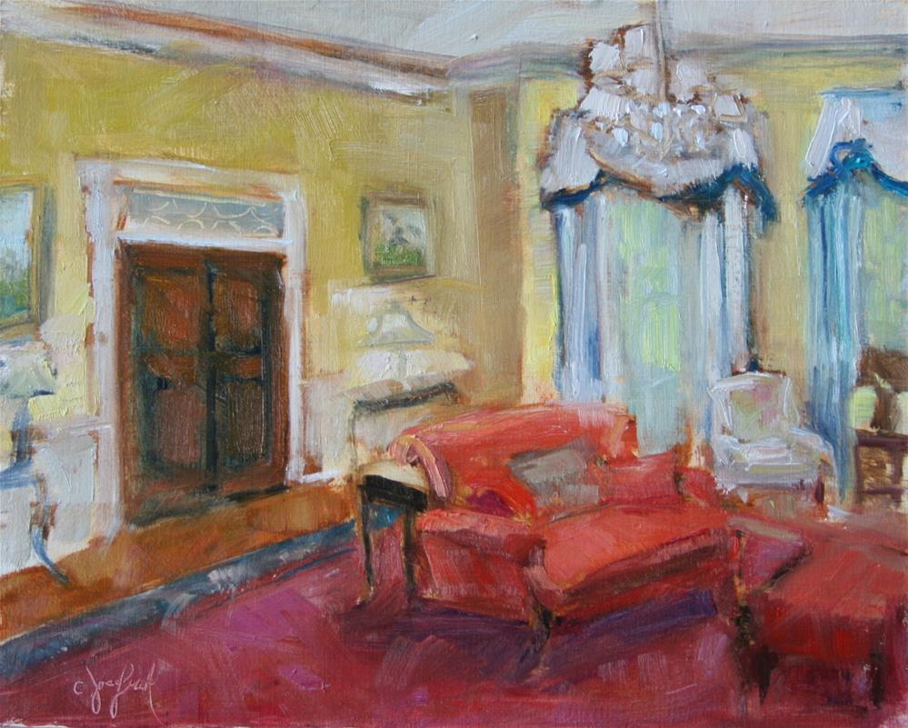 """Tides Hotel"" original fine art by Carol Josefiak"