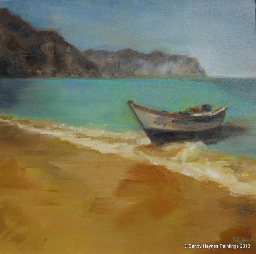 """Venezuela beach   #137"" original fine art by Sandy Haynes"