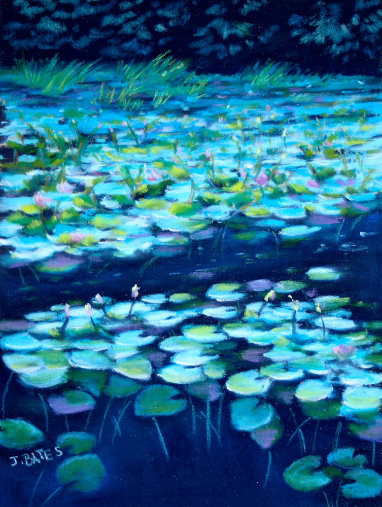 """Night Lilies"" original fine art by Jill Bates"