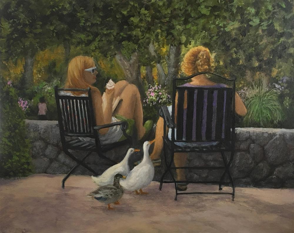 """The Conversation II"" original fine art by Elizabeth Elgin"