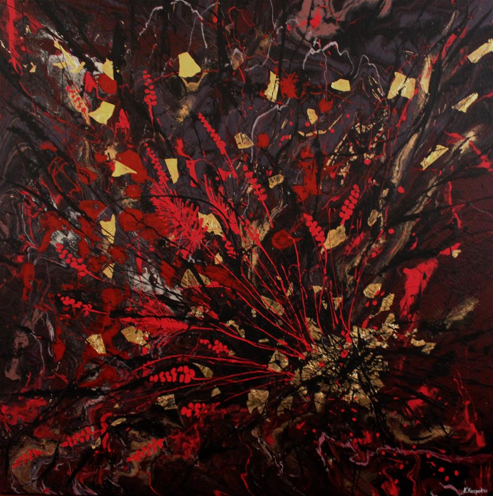 """Flowers Arrangement"" original fine art by Khrystyna Kozyuk"