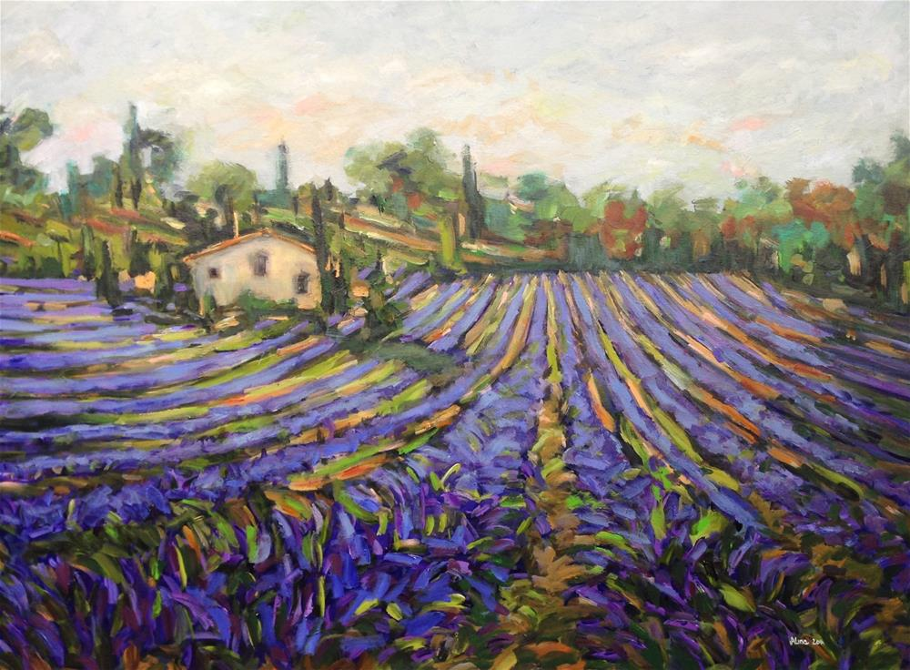 """Farmhouse in Provence"" original fine art by Alina Vidulescu"