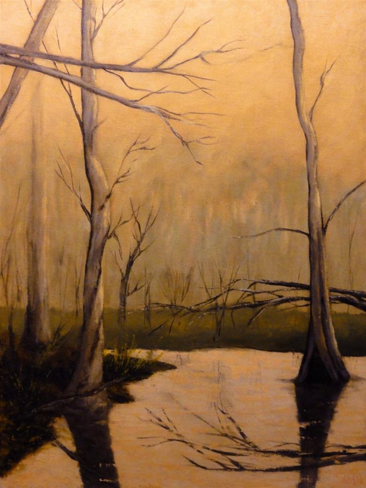 """Sunset On The Bayou"" original fine art by Dalan Wells"