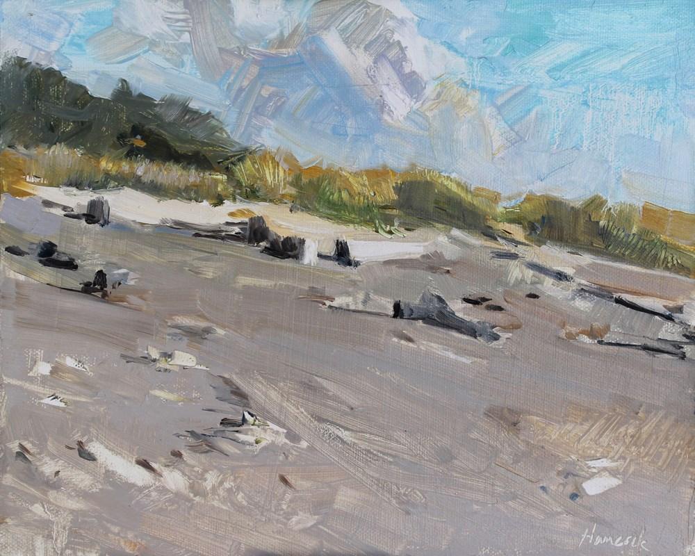 """Beach and Dunes"" original fine art by Gretchen Hancock"