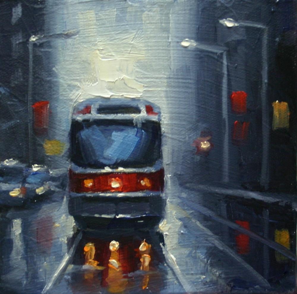 """""""Toronto Streetcar"""" original fine art by Catherine Jeffrey"""