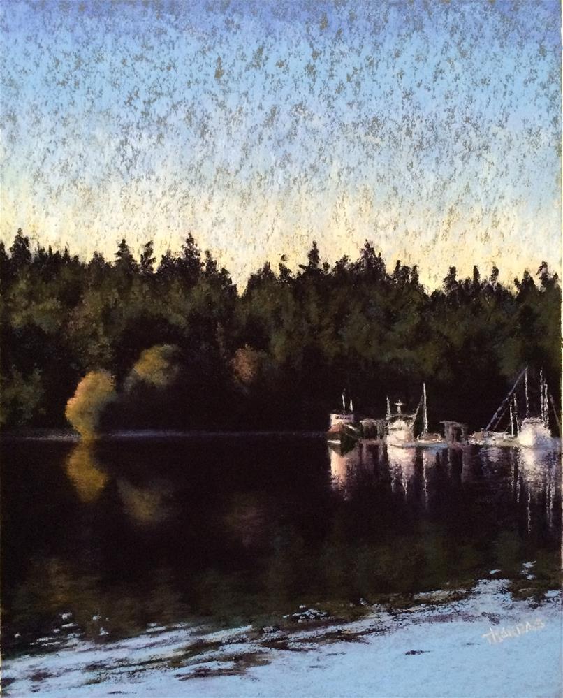 """Morning on the Bay"" original fine art by Christina Karras"