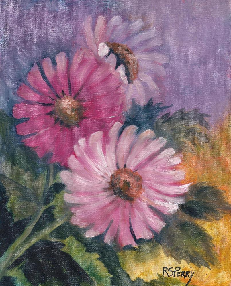 """Flower Festival"" original fine art by R. S. Perry"