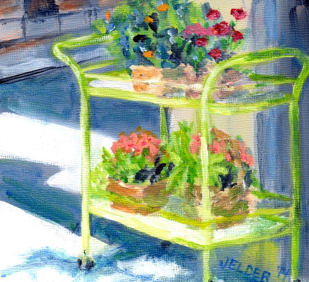 """Flower Cart, B'ham No. 10"" original fine art by Judith Elder"