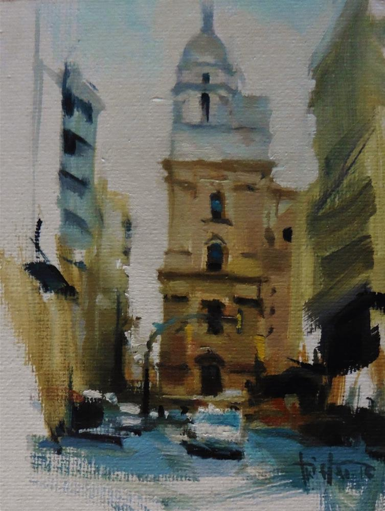 """""""Cathedral sketch"""" original fine art by Víctor Tristante"""