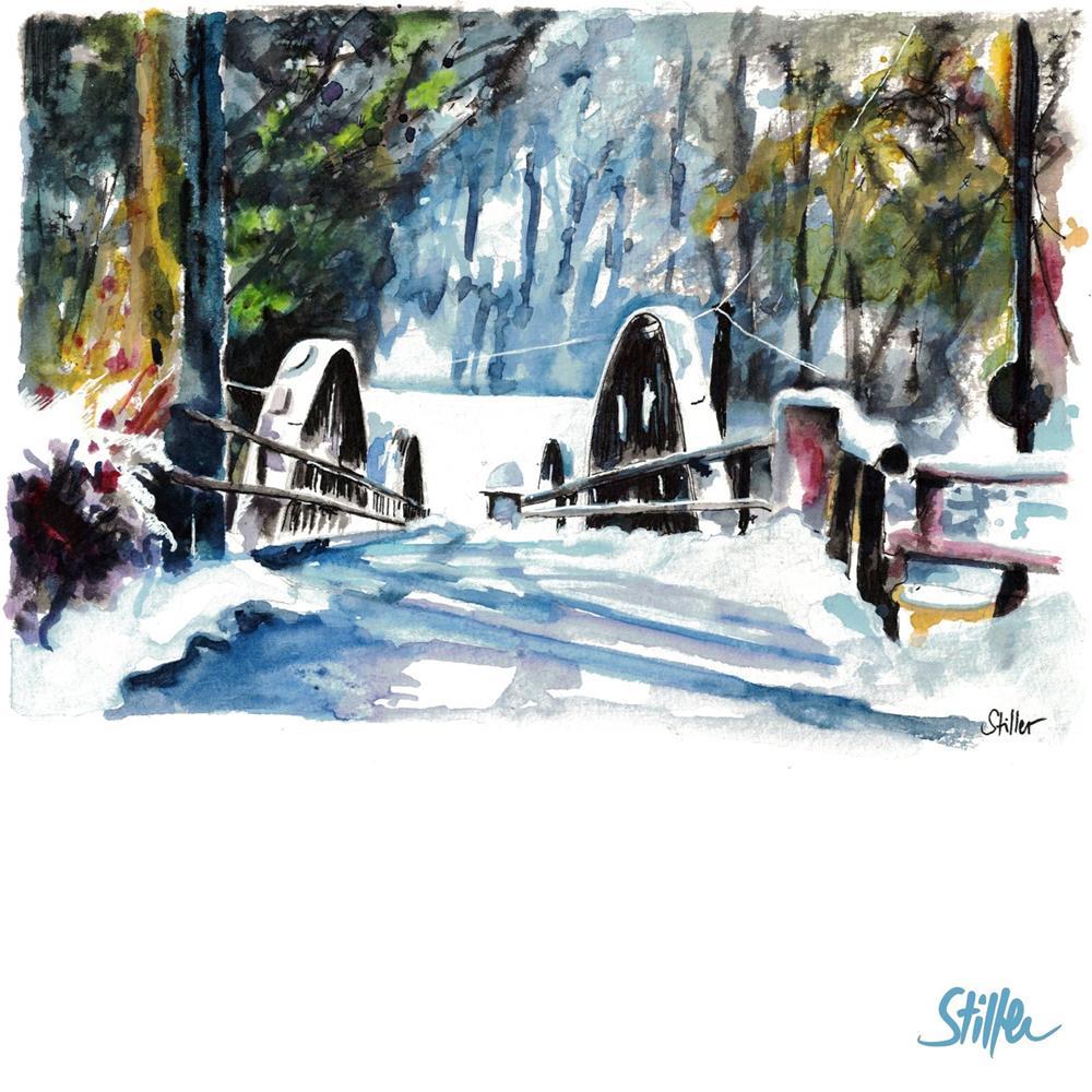 """""""3410 Winterbrücke"""" original fine art by Dietmar Stiller"""