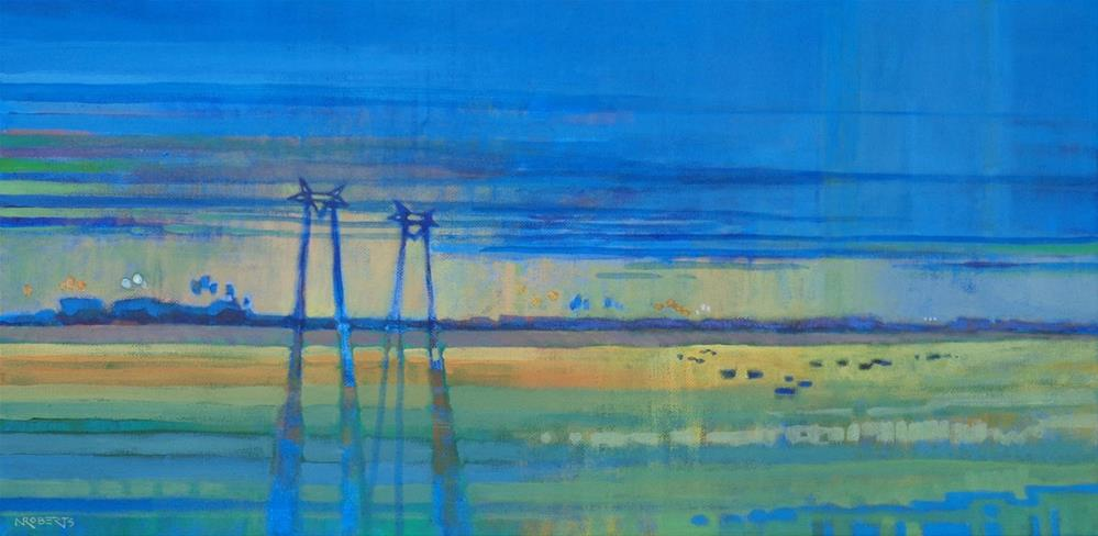 """Jersey Island Twilight"" original fine art by Nancy Roberts"