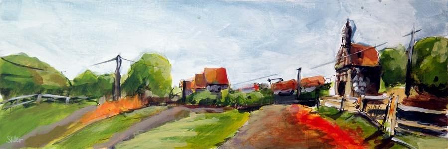 """2482 Acrylic Landscape Sketch VIII"" original fine art by Dietmar Stiller"