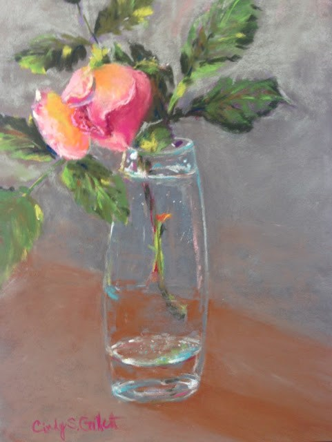 """""""Tea Rose"""" original fine art by Cindy Gillett"""